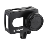 PULUZ Housing Shell CNC Aluminum Alloy Protective Cage with 37mm UV Lens for Xiaomi Xiaoyi II 4K Action Camera (Black)