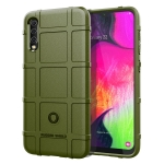 Shockproof Rugged  Shield Full Coverage Protective Silicone Case for Galaxy A70 (Army Green)