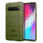 Shockproof Rugged  Shield Full Coverage Protective Silicone Case for Galaxy S10 5G (Army Green)