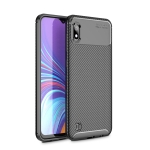 Beetle Series Carbon Fiber Texture Shockproof TPU Case for Galaxy A10 (Black)