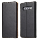 Horizontal Flip PU Leather Case for Galaxy S10+, with Holder & Card Slot & Wallet (Black)