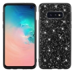 Glitter Powder Shockproof TPU Protective Case for Galaxy S10+ (Black)