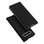 DUX DUCIS Skin Pro Series Horizontal Flip PU + TPU Leather Case for Galaxy S10 5G, with Holder & Card Slots (Black)