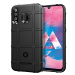 Shockproof Protector Cover Full Coverage Silicone Case for Galaxy M30 (Black)