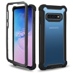 Four-corner Shockproof All-inclusive Transparent Space Case for Galaxy S10+ (Black)