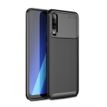 Carbon Fiber Texture Shockproof TPU Case for Galaxy A50 (Black)