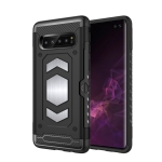 Shockproof Armor TPU + PC Protective Case for Galaxy S10 Plus, with Card Slot (Black)