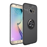 Shockproof TPU Case for Galaxy S7 Edge, with Holder (Black)
