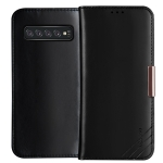 DZGOGO ROYALE II Series Magnetic Horizontal Flip Genuine Leather Case for Galaxy S10 Plus, with Card Slots & Holder (Black)