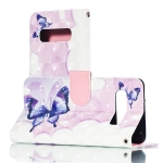 3D Swallowtail Butterflies Pattern Horizontal Flip PU Leather Case for Galaxy S10, with Holder & Card Slots & Wallet & Photo Frame
