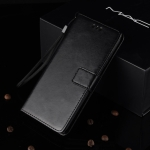 Crazy Horse Texture Horizontal Flip Leather Case for Galaxy M20, with Holder & Card Slots & Wallet (Black)