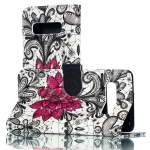 3D Lace Flower Pattern Horizontal Flip PU Leather Case for Galaxy S10+, with Holder & Card Slots & Wallet & Photo Frame