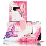 3D Pink Butterflies Pattern Horizontal Flip PU Leather Case for Galaxy S10e, with Holder & Card Slots & Wallet & Photo Frame