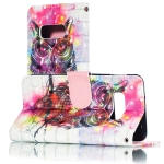3D Owl Pattern Horizontal Flip PU Leather Case for Galaxy S10e, with Holder & Card Slots & Wallet & Photo Frame
