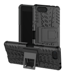 Tire Texture TPU+PC Shockproof Case for Sony Xperia XZ4 Compact, with Holder (Black)