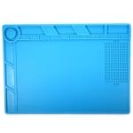 BEST-S-140 Heat-resistant BGA Soldering Station Silicone Heat Gun Insulation Pad Repair Tools Maintenance Platform Desk Mat(Blue)