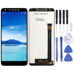 LCD Screen and Digitizer Full Assembly for Alcatel 7 / 6062 / 6062W / 6062T (Black)