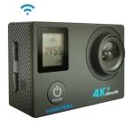 HAMTOD H12 UHD 4K WiFi  Sport Camera with Waterproof Case, Generalplus 4247, 0.66 inch + 2.0 inch LCD Screen, 170 Degree Wide Angle Lens (Black)