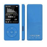 Fashion Portable LCD Screen FM Radio Video Games Movie MP3 MP4 Player Mini Walkman, Memory Capacity:8GB(Blue)