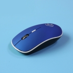 iMCE 2.4Ghz 1600 DPI Ergonomic Noiseless USB Mute Wireless Mouse(Blue)
