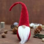 Xmas DIY Decoration Christmas Mini Santa Claus Doll Toy(Red)