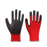 2 Pairs Red Yarn Black Latex-nylon Nitrile Anti-static Work Safety Gloves Mechanic Working Gloves