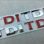 TDI 3D Badge Emblem Decal Car Sticker