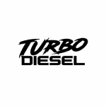 5 PCS TURBO DIESEL Vinyl Car Sticker Decal , Size: 12.9 x 5cm, Color Name:Black