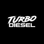 5 PCS TURBO DIESEL Vinyl Car Sticker Decal , Size: 12.9 x 5cm, Color Name:Silver