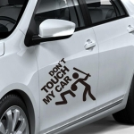 10 PCS Dont Touch My Car Pattern Car Sticker Window Decal, Size: 22x19cm