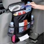 Multifunction Oxford Waterproof Baby Feeding Bottle Cover Thermal Bag Tissue Box Storage Hanging Car Seat Organizer Mum Bag(Black)