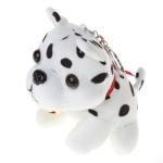 Plush Puppy Pendant Keychain Spotty Dog Stuffed Animal Cute Keyring(Spot)