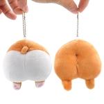 10cm Cute Animal Cartoon Corgi Butt Dog Ass PP Plush Lovely Funny Keychain