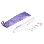 Electric Nail File Drill Kit Tips Manicure Toenail Pedicure Salon Pen Shape Manicure Kit Nail Drill Buffers Pedicure Tool with 5 Bits