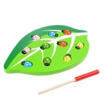 Catch Insects Game Toy Wooden Magnetic Funny Early Educational Developmental Game Set Toys for Kids Toddlers