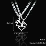 Dear Kissing Heart Shape Necklace Set for Men Women Couple Jewelry