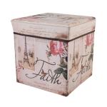 Multi-function Non-woven Square Retro Folding Storage Organizer Kids Book storage box(Tower Rose)
