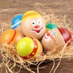Clown Egg Game Wooden Cartoon Dummy Eggs Children Hand-eye Coordination Balance Training Patient Educational Wood Toys