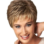 3 PCS Hair Care Wig Stands Heat Resistant Fiber Wig Short Haircut Curly Color Gradient  Wigs Fashion
