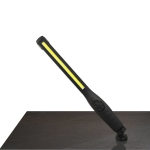 10W USB Rechargeable Adjustable COB LED Slim Work Light with Hook(Black)