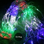 Spider Web Lamp Christmas Garland String Christmas Lights Fairy Party Garden Wedding Decoration EU Plug