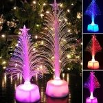 Colorful Changing Christmas Tree Decoration Lamp Home Table Party Decor Star Night Light