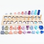 Preschool Wooden Count Geometric Shape Cognition Match Baby Early Education Teaching Aids Math Toys