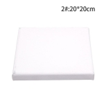 Oil Acrylic Paint White Blank Square Artist Canvas Wooden Board Frame 20x20cm