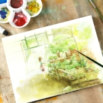 Professional Watercolor Paper Hand Painted Watercolor Book A4  210 297mm