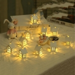 2m 10 LEDs Warm White Cute House Type Battery Decorative Lamp Wedding Christmas Party Decorative Light