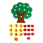 Teaching Aids Apple Trees Math Toys Teaching Kindergarten Manual DIY Non-woven Coth Early Learning Education Toys