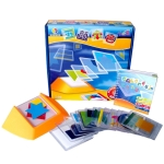 Colorful Plate Spatial Thinking Puzzle Game toy Kids Logical Thinking Color Match Desktop Game