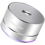 LENRUE Portable Wireless Bluetooth Speaker Stereo Led Speakers with Built-in Mic MP3 MINI Subwoof Smart Column Loudspeaker(Light Silver)