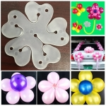 50 PCS Flower Balloons Decoration Accessories Plum Clip Birthday Wedding Party Plastic Balloon Clip